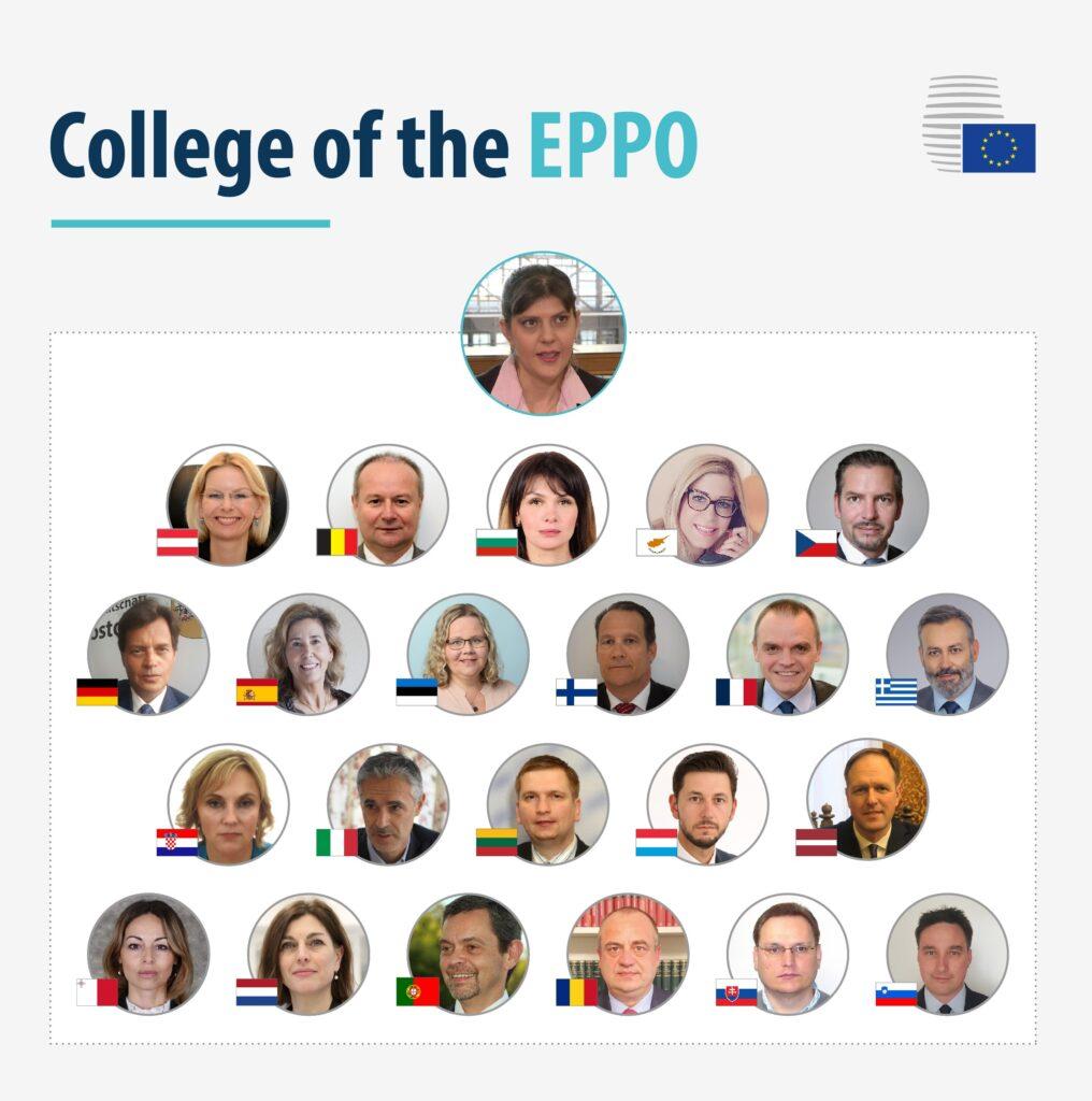 Fotografie kolegia Úřadu evropského veřejného žalobce