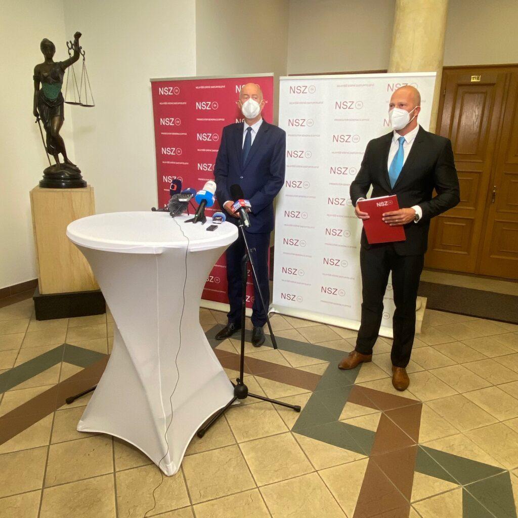 Fotografie z tiskové konference